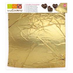 Feuilles d'emballage dorées (x10)