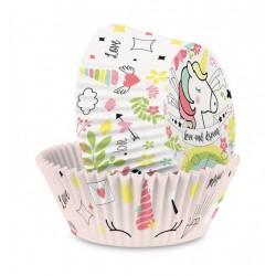 """Caissettes papier x36 """"Licorne"""""""
