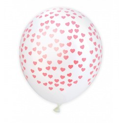 6 Ballons gonflables coeurs roses