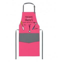 """Tablier adulte Framboise """"Mme Parfaite cuisine comme une..."""