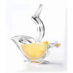 Presse-tranche citron oiseau transparent