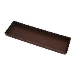 Moule à tarte rectangle 35cm fond amovible anti-adhérent
