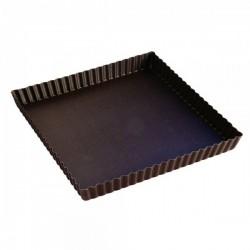 Moule à tarte carrée 23cm fond amovible anti-adhérent