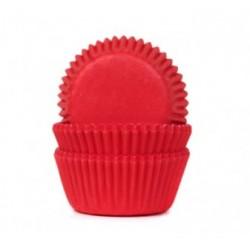 Caissettes papier Mini Cupcakes Rouge