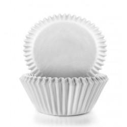 Caissettes papier Mini Cupcakes x80 Blanc