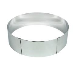 Cercle à pâtisserie réglable (18-30cm) en inox