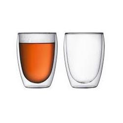 Set de 2 tasses en verre double paroi 0,35L BODUM