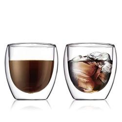 Set de 2 tasses en verre double paroi 0,25L BODUM
