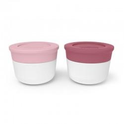 Set de 2 récipients à sauce Flamingo/Blush MONBENTO
