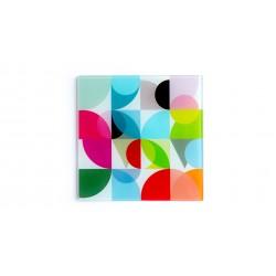 Dessous de plat en verre carré SOLENA