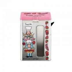 Boîte métal fenêtre Sucre Rose