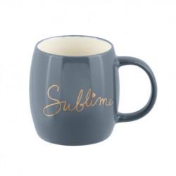 """Mug en céramique gris et or """"Sublime"""""""