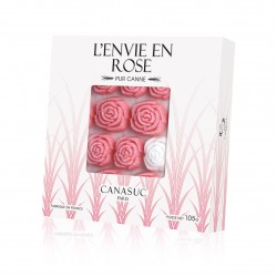 """Sucres Rose """"Envie en rose"""" Boîte fenêtre de 105g"""