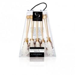 Sucres Valisette THE de 10 bâtonnets Blanc et roux