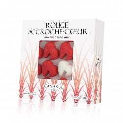 """Sucres Rouge """"Accroche-coeur"""" Boîte fenêtre de 120g"""