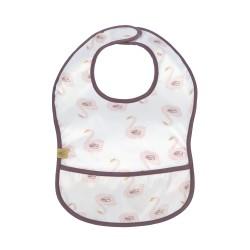 Bavoir plastique avec poche « Cygne »