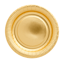 Assiettes en carton x8 «Doré»