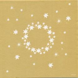 Serviettes en papier Cocktail (x20) 25x25 Comète Or