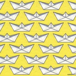 Serviettes en papier (x20) 40x40 Petit Bateau Jaune