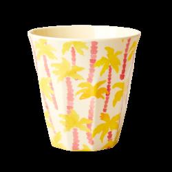 "Tasse Medium en mélamine ""Palmier jaune"" 9cm RICE"