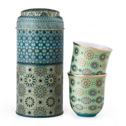 """Coffret 2 tasses dans boîte métal """"Andalusia"""""""