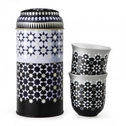 "Coffret 2 tasses dans boîte métal ""Kaokab"""