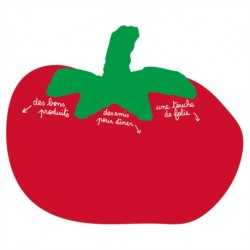 """Mémo magnétique """"Tomate"""" avec stylo"""