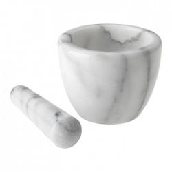 Mortier avec pilon en marbre blanc 10cm