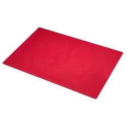 Tapis étale-pâte en silicone rouge