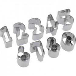 Kit de 10 emporte-pièces Chiffres de 0-9