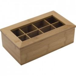 Boîte à sachets de thé bambou 8 comp
