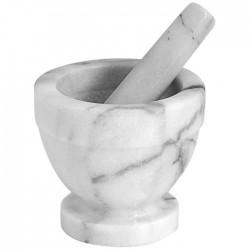 Mortier avec pilon en marbre blanc 13cm
