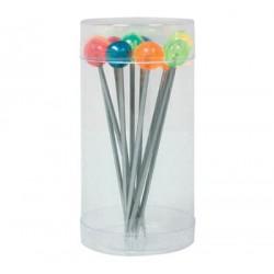 Set de 12 piques à bigorneaux multicolores