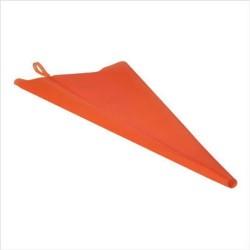 Poche à Douille en silicone orange 34cm avec 3 douilles inox