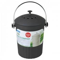Seau à compost Noir + filtre charbon