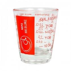 Verre doseur mini 5-35ml en verre