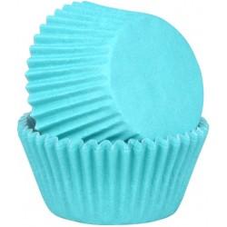 Caissettes papier Mini Cupcakes Bleues
