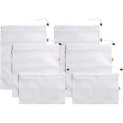 Lot de 6 sacs à vrac en polyester réutilisables