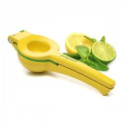 Presse-agrumes en métal Squeezer vert et jaune