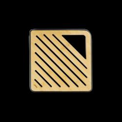 Dessous de plat carré en bambou aux rebords noirs