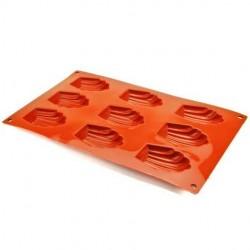 Moule à 9 madeleines en silicone SILIKOMART
