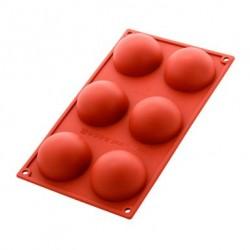 Moule 6 demi-sphères 7cm en silicone SILIKOMART