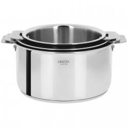 Set de 3 casseroles Casteline (16-20cm) avec poignée inox...