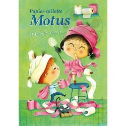 Carte Postale 10x15 «Papier toilette Motus»