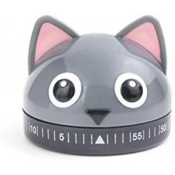 """Minuteur rond """"Chat gris"""""""