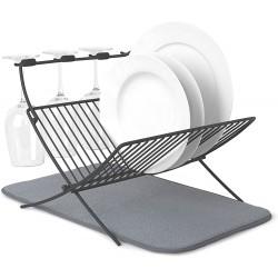 """Egouttoir à vaisselle """"Xdry"""" avec tapis Noir UMBRA"""