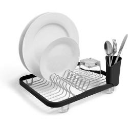 Egouttoir à vaisselle plat inox/noir UMBRA