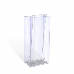Sachet plastique avec fond cartonné