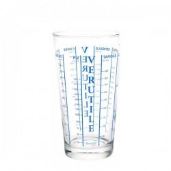 Verre doseur 0,58L en verre couleur aléatoire