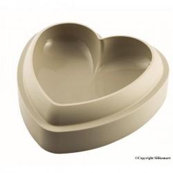 Moule Coeur 3D en silicone 20cm SILIKOMART